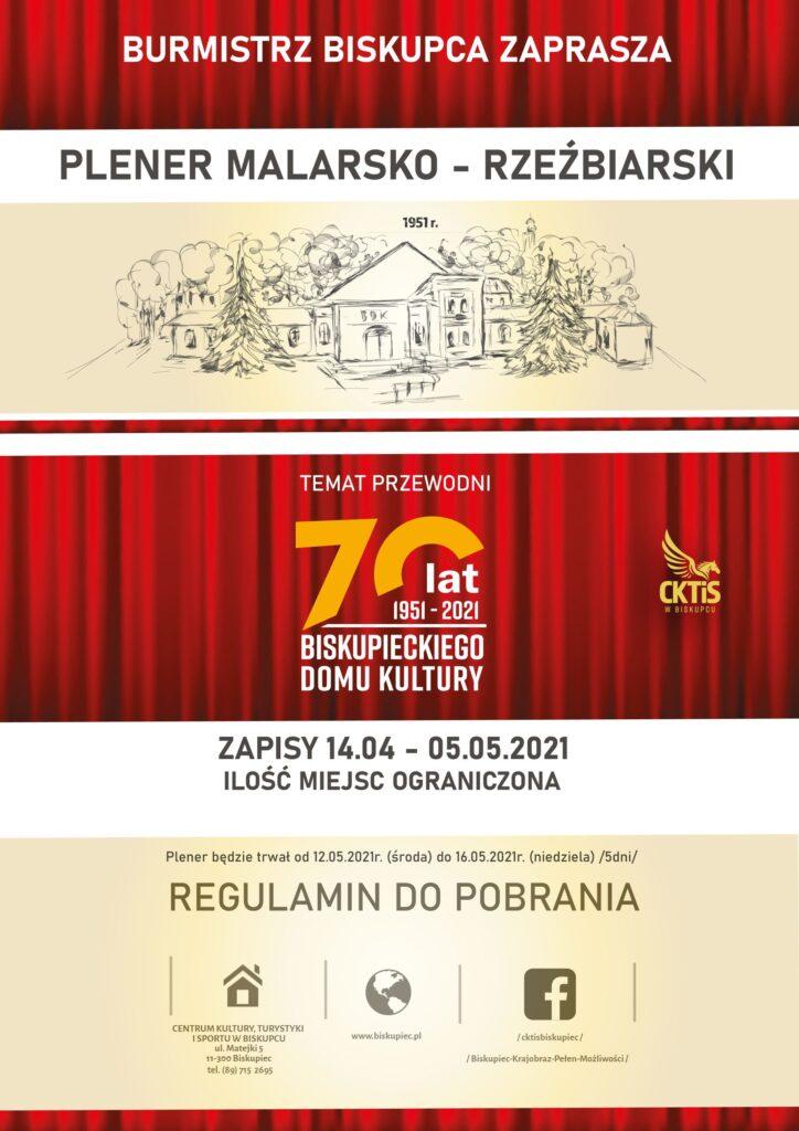 Plakat z zaproszeniem na plener malarsko - rzeźbiarski