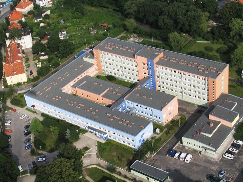 Szpital w Biskupcu - widok z lotu ptaka