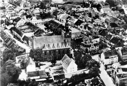 Historyczne zdjęcie widok z lotu ptaka
