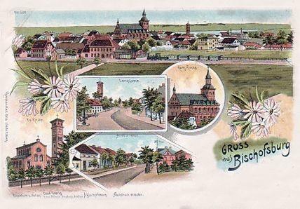 Historyczna pocztówka z Biskupca