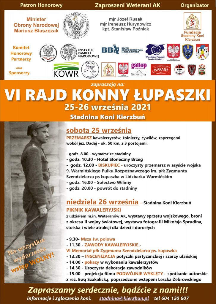 plakat Rajd Konny Łupaszki