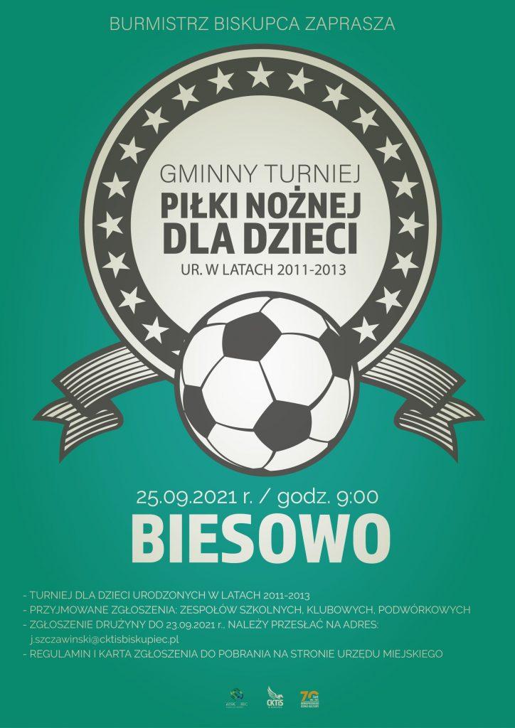 plakat turniej w Biesowie