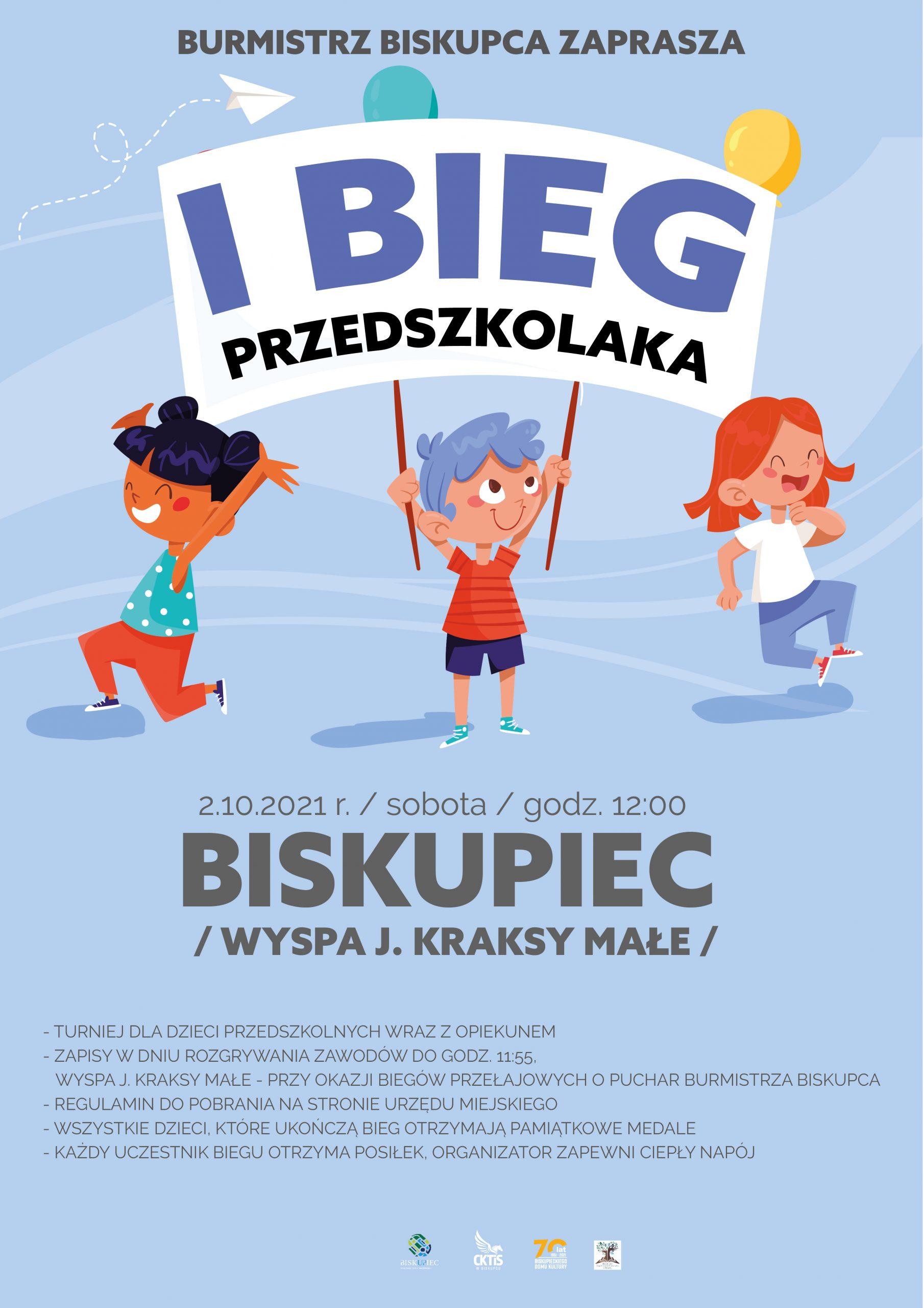 Plakat Biegi Przełajowe Przedszkole