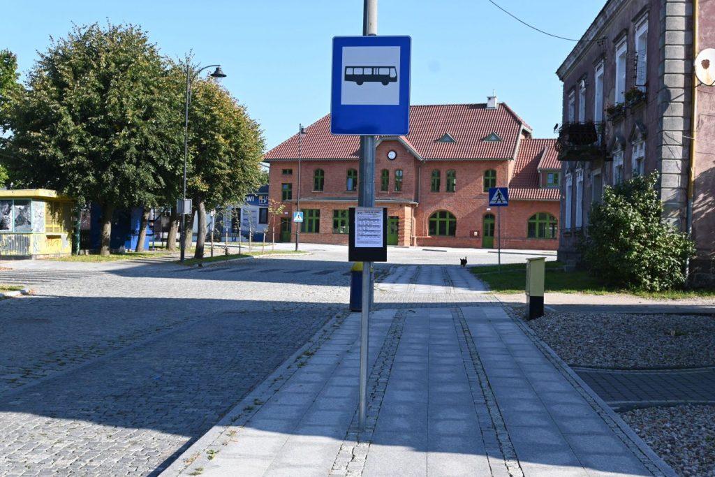 na zdjęciu przystanek Dworzec Główny transportu publicznego