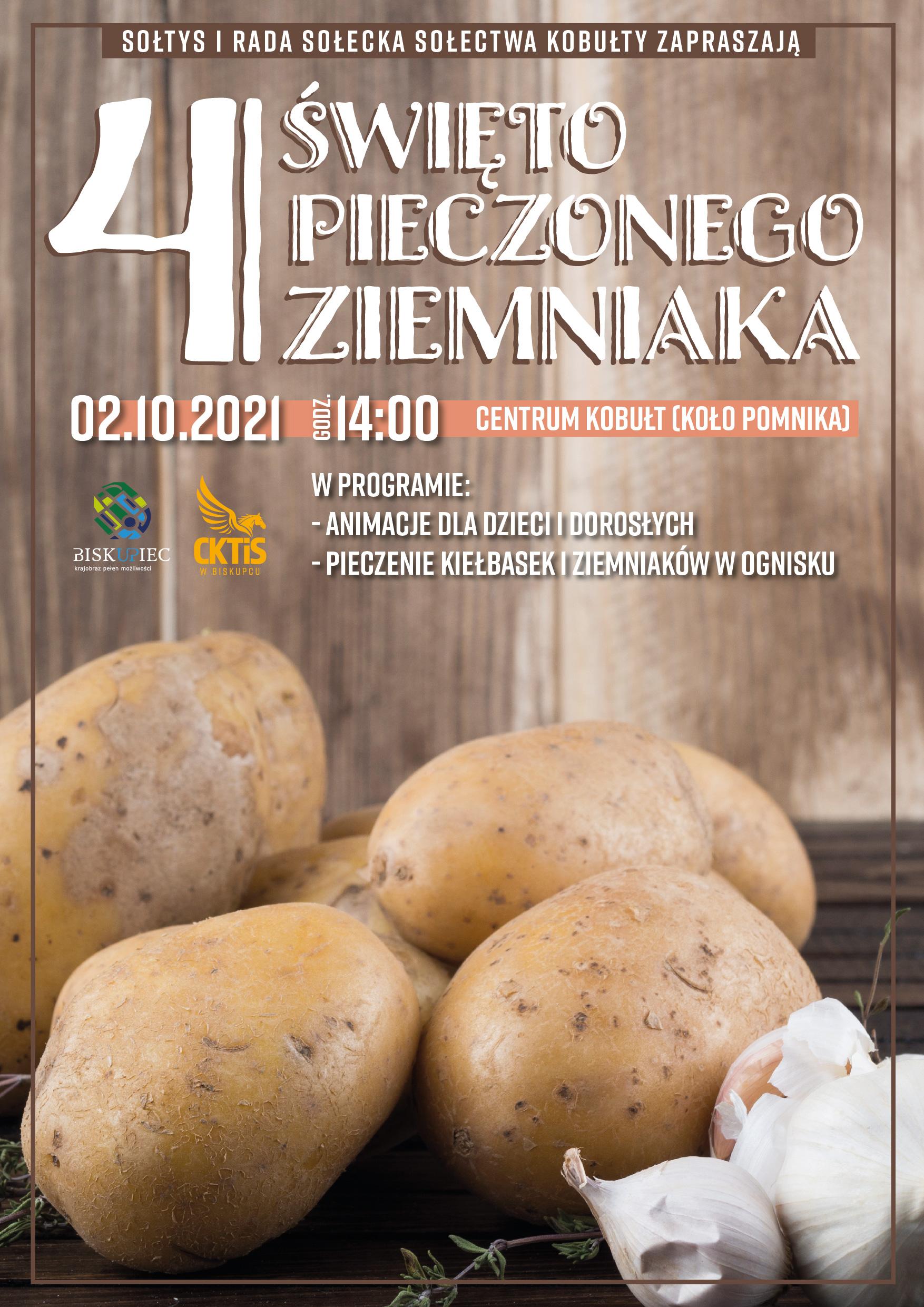 plakat pieczony ziemniak