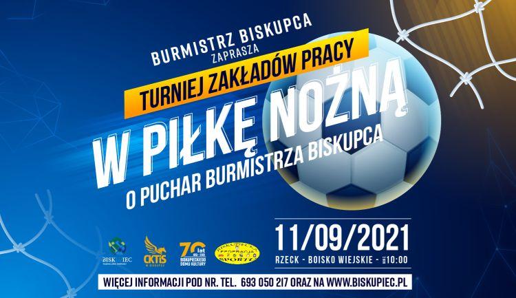 Plakat dotyczący Turnieju Zakładów Pracy w Piłkę Nożną