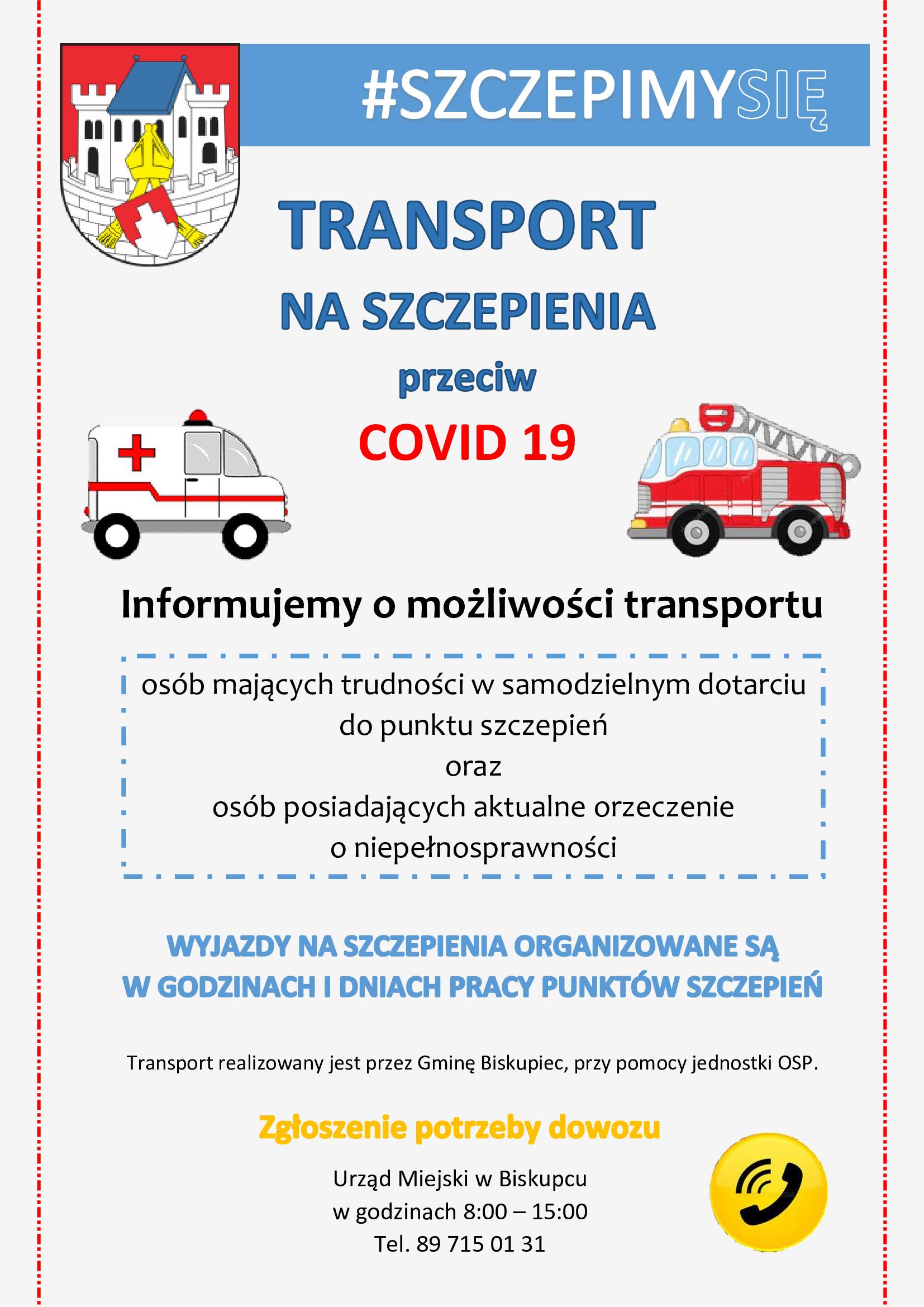 plakat szczepienia transport