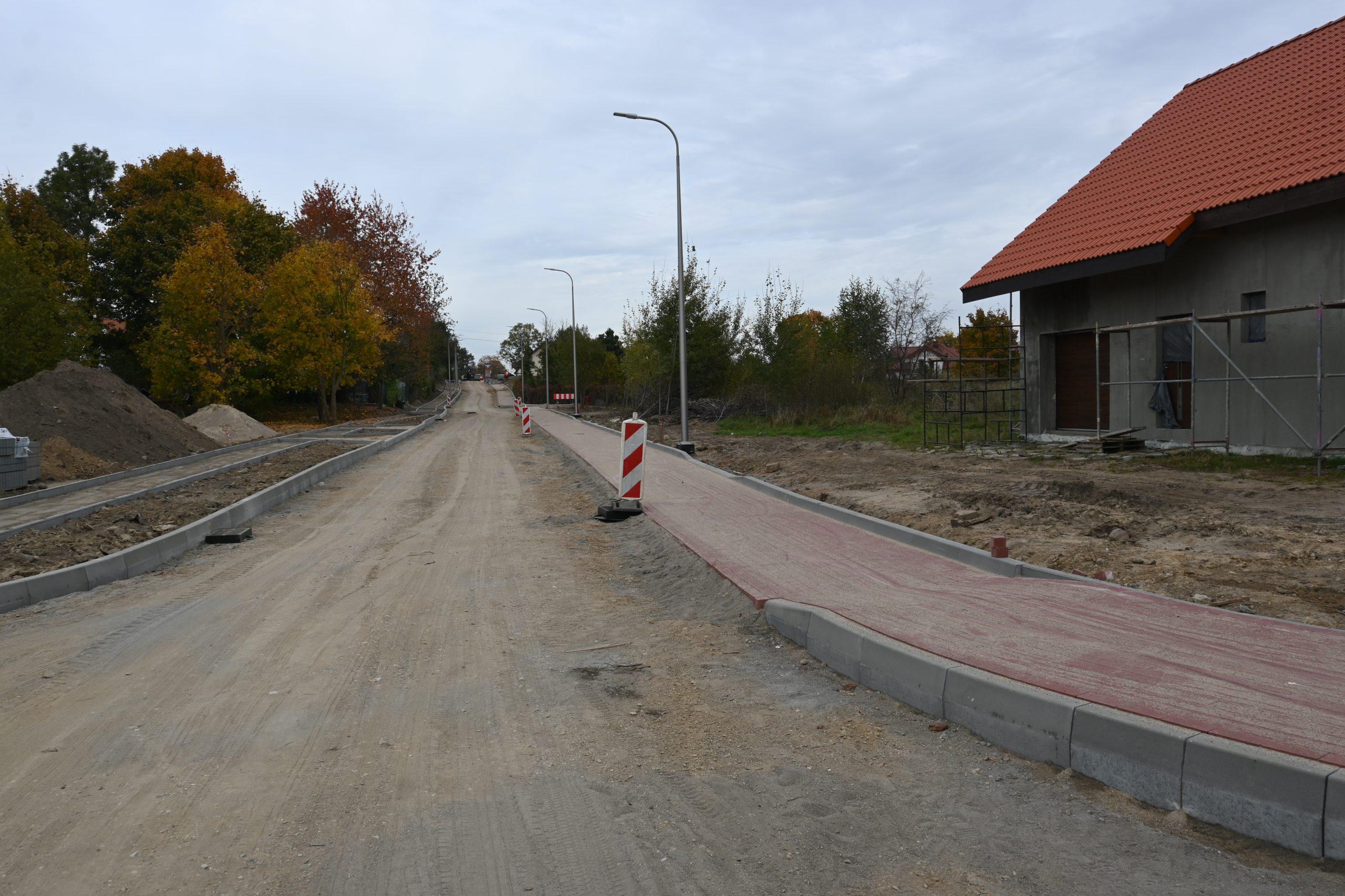 zdjęcie przedstawiające efekty prac w ciągu ulic Żelazna, Żytnia, Tartaczna